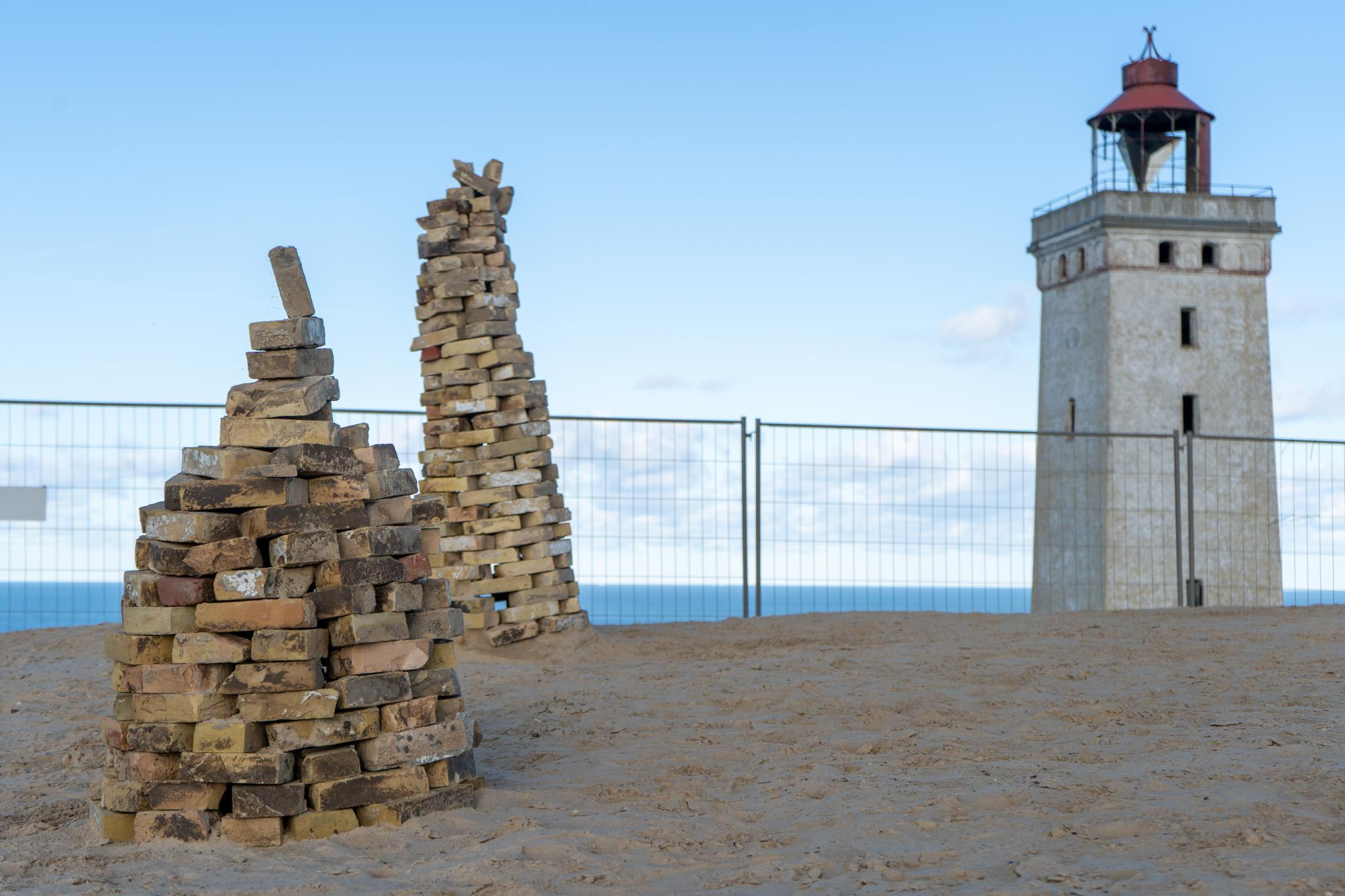 Steinhaufen vor Rubjerg Knude